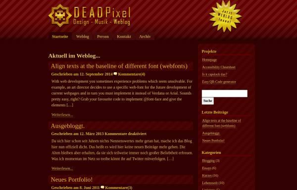 Vorschau von www.dead-pixel.de, Dead-Pixel Weblog