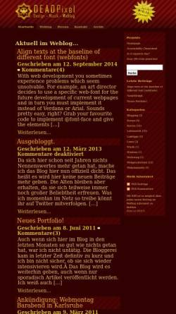 Vorschau der mobilen Webseite www.dead-pixel.de, Dead-Pixel Weblog