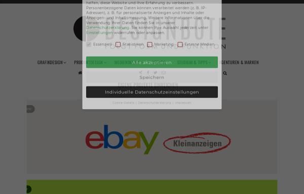 Vorschau von www.designbote.com, DesignBote