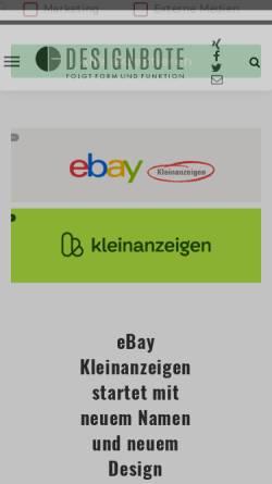 Vorschau der mobilen Webseite www.designbote.com, DesignBote