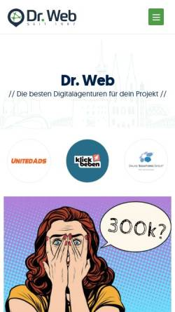 Vorschau der mobilen Webseite www.drweb.de, Dr. Web Weblog