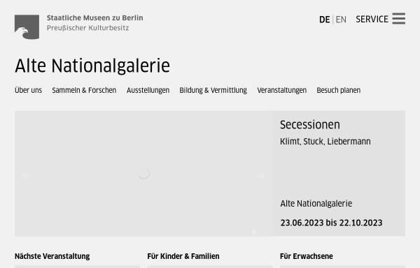 Vorschau von www.smb.museum, Berlin, Alte Nationalgalerie