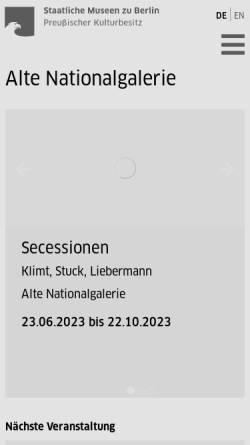 Vorschau der mobilen Webseite www.smb.museum, Berlin, Alte Nationalgalerie