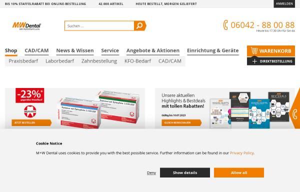 Vorschau von www.mwdental.de, M+W Dental