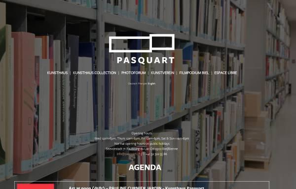 Vorschau von www.pasquart.ch, Biel, Centre PasquART