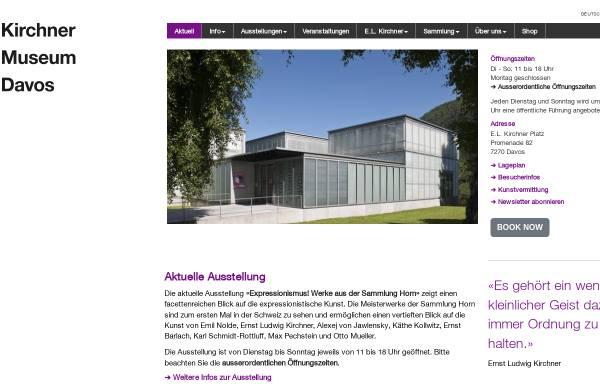 Vorschau von www.kirchnermuseum.ch, Davos, Kirchner Museum