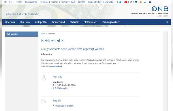 Vorschau von www.oenb.at, Österreichische Nationalbank Kreditinstitutsverzeichnis