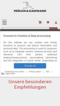 Vorschau der mobilen Webseite www.froelichundkaufmann.de, Frölich&Kaufmann