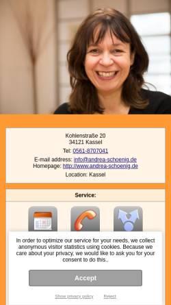 Vorschau der mobilen Webseite www.andrea-schoenig.de, inBalance, Andrea Schönig