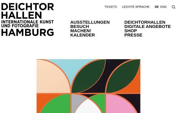 Vorschau von www.deichtorhallen.de, Hamburg, Deichtorhallen
