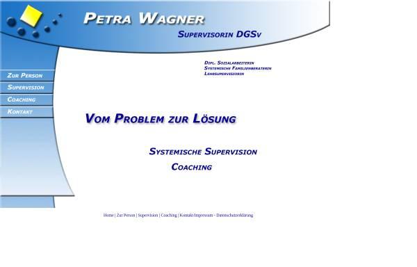 Vorschau von www.supervision-wagner.de, Petra Wagner - Supervision (DGSv), Coaching, Fortbildung