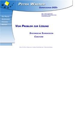 Vorschau der mobilen Webseite www.supervision-wagner.de, Petra Wagner - Supervision (DGSv), Coaching, Fortbildung