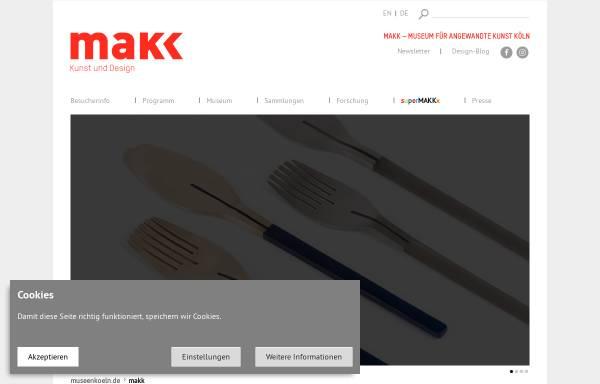 Vorschau von www.museenkoeln.de, Köln, Museum für Angewandte Kunst