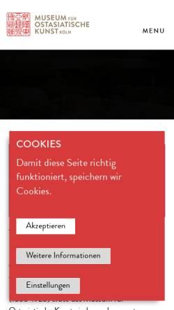Vorschau der mobilen Webseite www.museum-fuer-ostasiatische-kunst.de, Köln, Museum für Ostasiatische Kunst