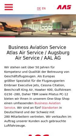 Vorschau der mobilen Webseite www.aas.ag, Atlas Air Service GmbH