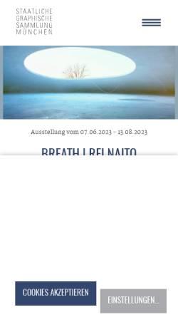 Vorschau der mobilen Webseite www.sgsm.eu, München, Staatliche Graphische Sammlung