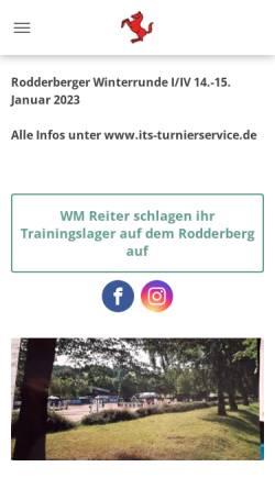 Vorschau der mobilen Webseite www.rodderberg.de, Reit- und Jagdclub Rodderberg e.V.
