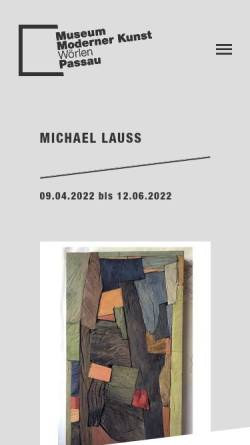 Vorschau der mobilen Webseite www.mmk-passau.de, Passau, Museum Moderner Kunst