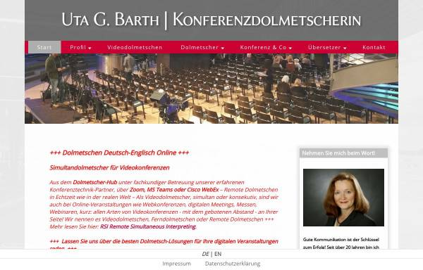 Vorschau von www.abratext.com, Abratext - Uta G. Barth