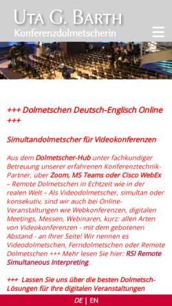 Vorschau der mobilen Webseite www.abratext.com, Abratext - Uta G. Barth