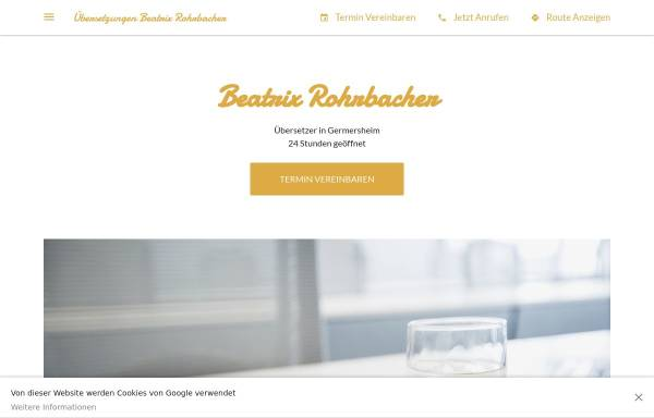 Vorschau von www.rohrbachers.de, Beatrix Rohrbacher
