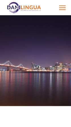 Vorschau der mobilen Webseite www.danilingua.eu, Danilingua! Übersetzungen, Inh. Daniela Gotta