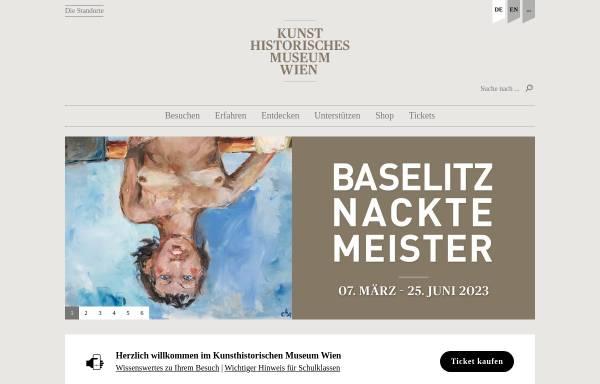 Vorschau von www.khm.at, Wien, Kunsthistorisches Museum