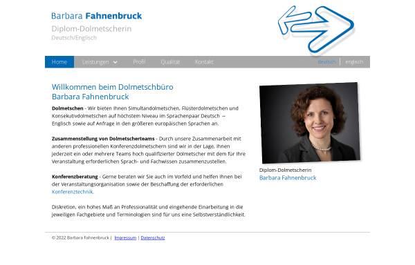 Vorschau von www.dolmetschbuero-fahnenbruck.de, Dolmetschbüro Barbara Fahnenbruck