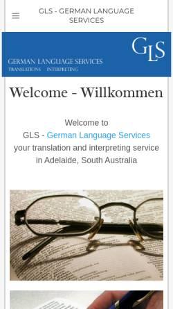 Vorschau der mobilen Webseite www.glsgerman.com, GLS German Language Services