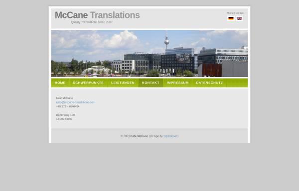 Vorschau von mccane-translations.com, McCane Translations, Inh. Kate McCane