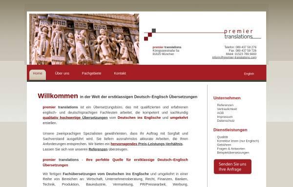 Vorschau von www.uebersetzungenglischdeutsch.eu, Premier Translations - Anil Mahyera