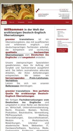 Vorschau der mobilen Webseite www.uebersetzungenglischdeutsch.eu, Premier Translations - Anil Mahyera