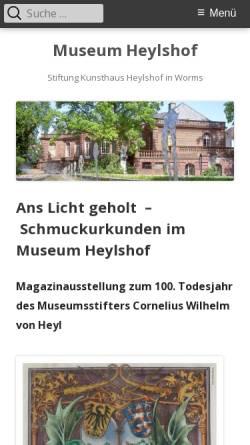 Vorschau der mobilen Webseite www.heylshof.de, Worms, Museum Heylshof