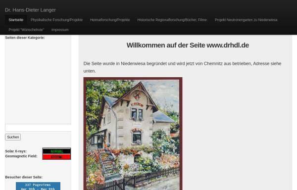 Vorschau von www.drhdl.de, Siedlungsphysik: Eine neue Forschungsrichtung