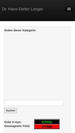 Vorschau der mobilen Webseite www.drhdl.de, Siedlungsphysik: Eine neue Forschungsrichtung