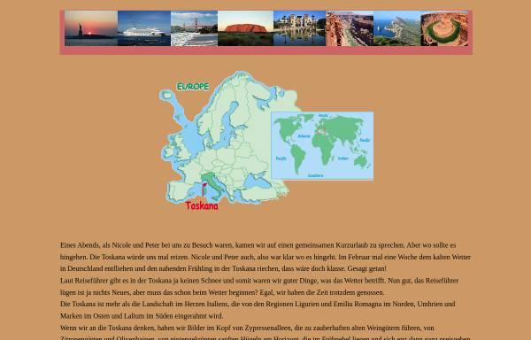Vorschau von www.arizonas-world.de, Toskanarundreise in 7 Tagen [Holger Quast]