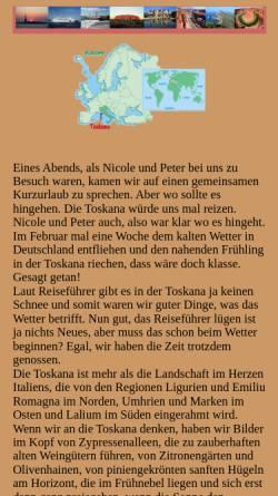 Vorschau der mobilen Webseite www.arizonas-world.de, Toskanarundreise in 7 Tagen [Holger Quast]
