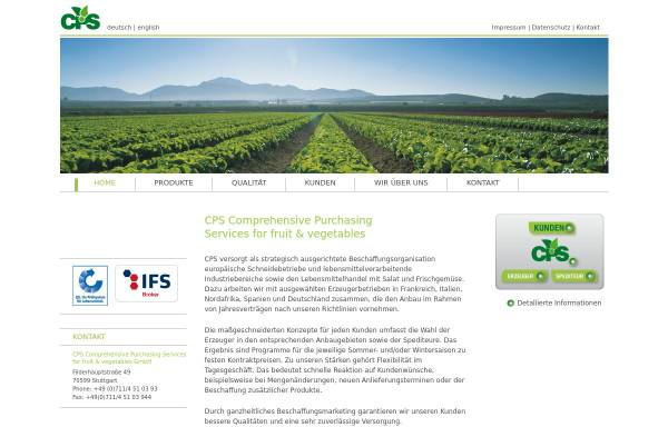 Vorschau von www.cps-salad.com, CPS Comprehensive Purchasing Services for fruit & vegetables GmbH