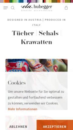 Vorschau der mobilen Webseite www.hubegger.com, Hubegger