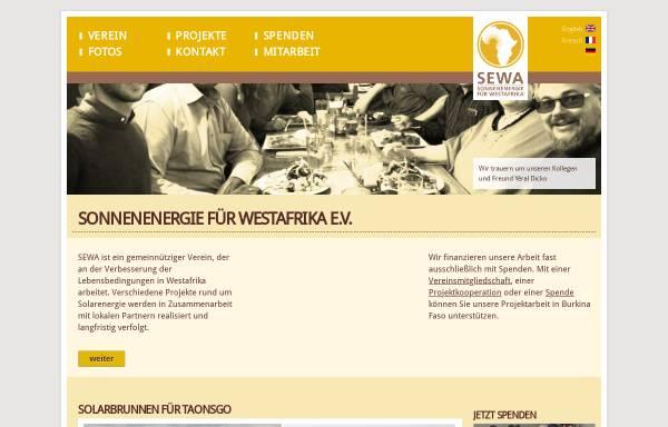 Vorschau von www.solar-afrika.de, SEWA - Sonnenenergie für West Afrika