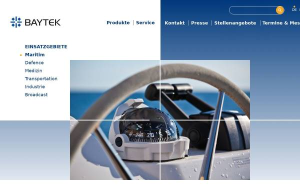 Vorschau von www.baytek.de, Baytek Industriesysteme GmbH, Deutschland