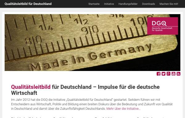 Vorschau von www.dgq.de, DGQ - Deutsche Gesellschaft für Qualität e.V.