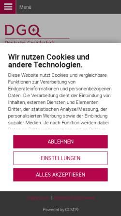 Vorschau der mobilen Webseite www.dgq.de, DGQ - Deutsche Gesellschaft für Qualität e.V.