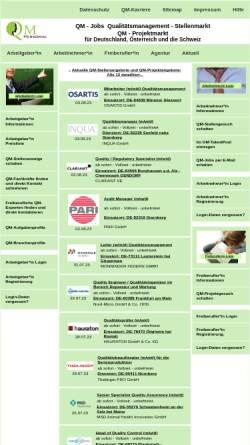 Vorschau der mobilen Webseite www.qm-personal.com, QM-Personal, Inh. Horst Steiniger