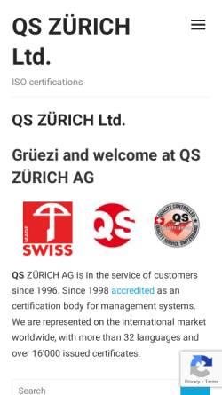 Vorschau der mobilen Webseite www.quality-service.ch, QS Zürich AG, QS Schaffhausen AG und QS Basel AG