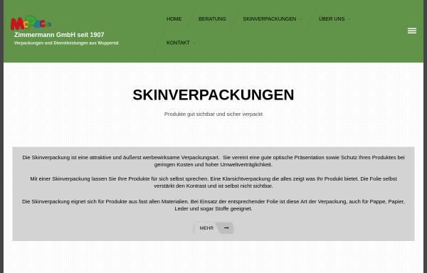 Vorschau von www.skinpack.de, Zimmermann GmbH