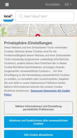Vorschau der mobilen Webseite www.doerrer.ch, Dörrer AG Metallveredlung