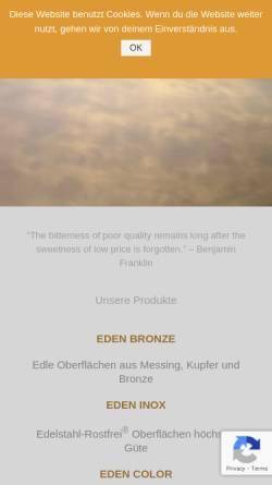 Vorschau der mobilen Webseite www.eden-design.de, Eden-Design GmbH