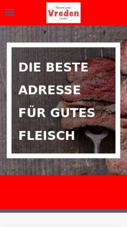 Vorschau der mobilen Webseite www.fleischcenter-vreden.de, Fleischcenter Vreden GmbH