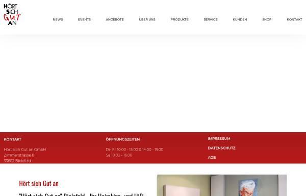 Vorschau von www.hsga-gmbh.de, HiFi-Studio Hört Sich Gut An